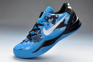 Nike Zoom Kobe VIII Elite System Blue White and Black Colorways Men Basketball Shoes