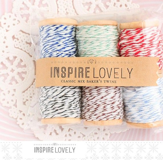 i <3 baker's twine...especially with a doily
