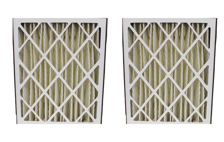 2 Merv-8 20x25x5 Carrier Pleated HVAC Filters Fit MF2025