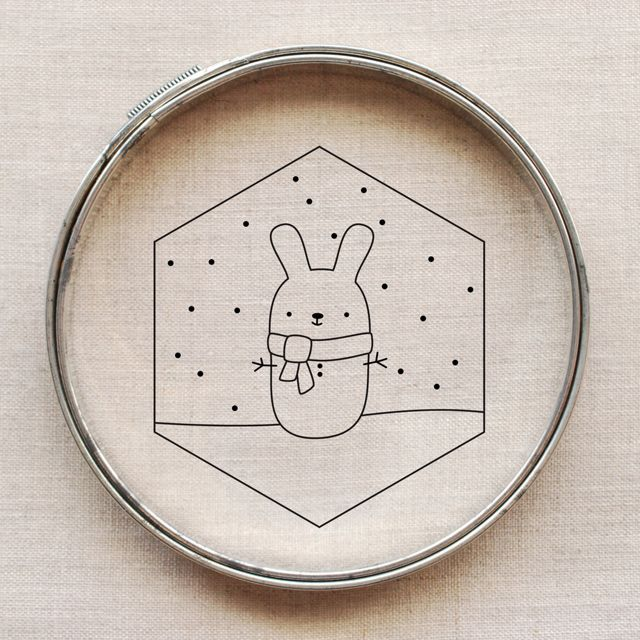 snow bunny embroidery pattern // wild olive