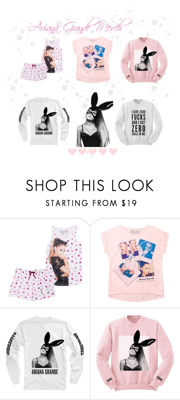 """♡ Ariana Grande Merch/Clothing ♡"" by kaylalovesowls ❤ liked on Polyvore"