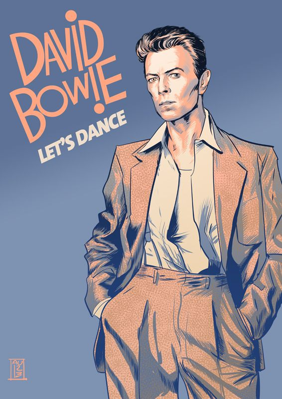 "spyrale: David Bowie by Aurelio Lorenzo - nino more like ""neen, no"""