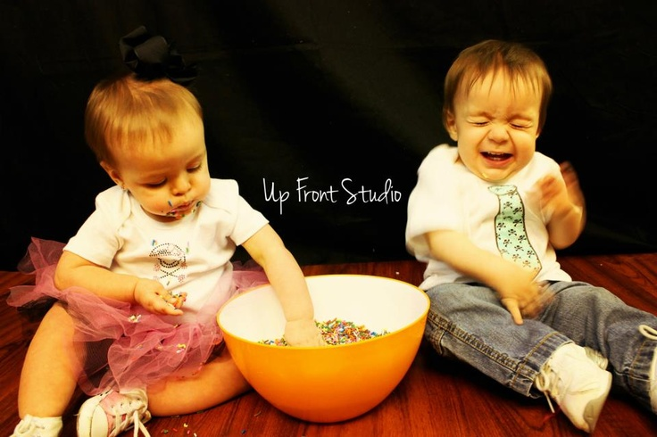 Fan favorite for Izabella and Braxton's 1st Birthday Session!   © 2012 Up Front Studio
