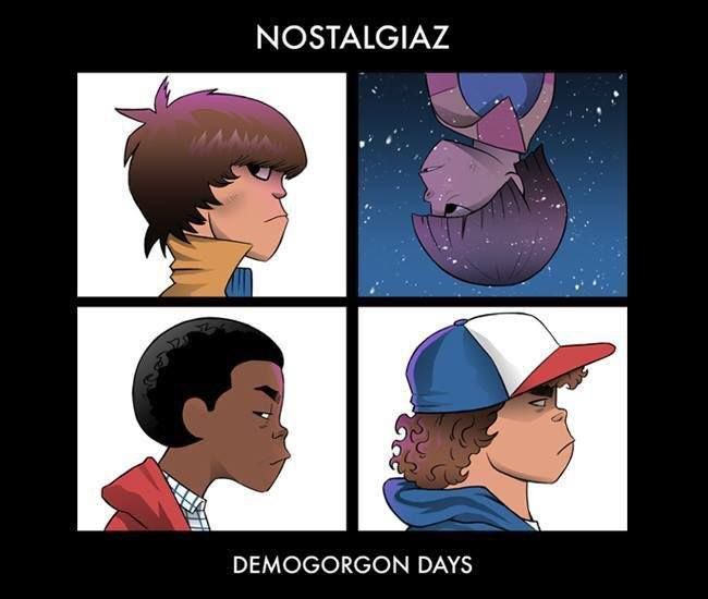 Gorillaz + Stranger Things - Mike Wheeler, Will Byers, Lucas Sinclair, Dustin Henderson