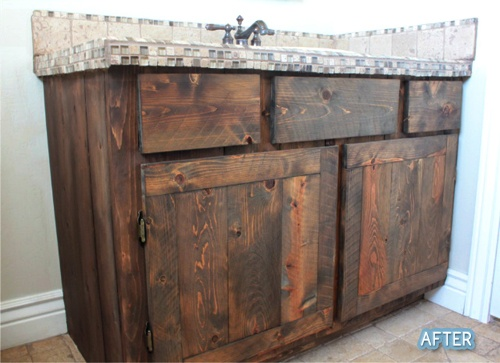 Kitchen Cabinets Made Out Of Fence Pickets