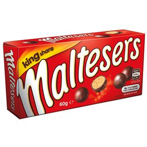 An outer of 16 Maltesers Box Kingshare.