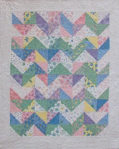 The formula for half-square triangle quilt blocks.