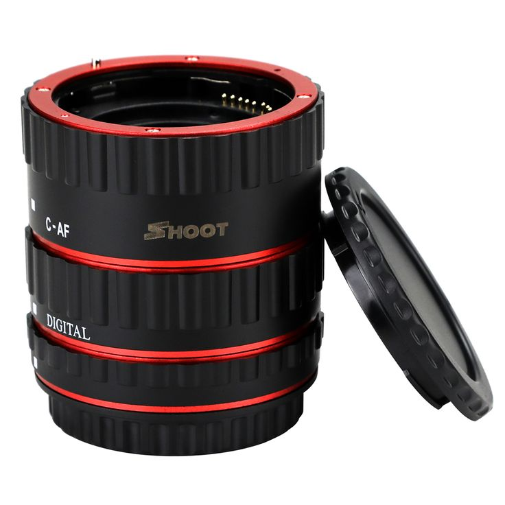 SHOOT Red Metal Auto Focus Macro Extension Tube Set for Canon SLR Cameras CANON EF EF. Click visit to buy #lenses #accessories