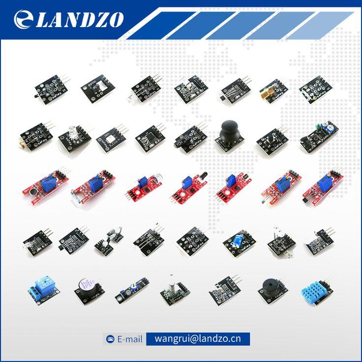 LANDZO 2017 37 IN 1 SENSOR KITS VOOR ARDUINO HOOGWAARDIGE GRATIS VERZENDING (Werkt met Officiële voor Arduino Boards)