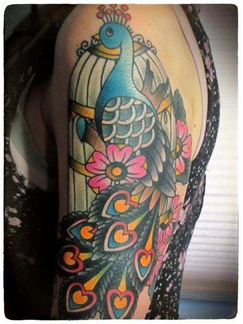 835 best images about traditional on pinterest for Traditional peacock tattoo