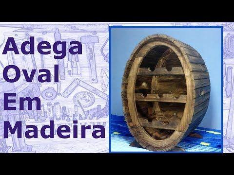 ✅ Adega Oval de Madeira