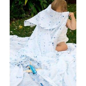 LoveYourBaby.com.au The Little Linen Company - Muslin Swaddle Blanket, secret garden 4pack Home