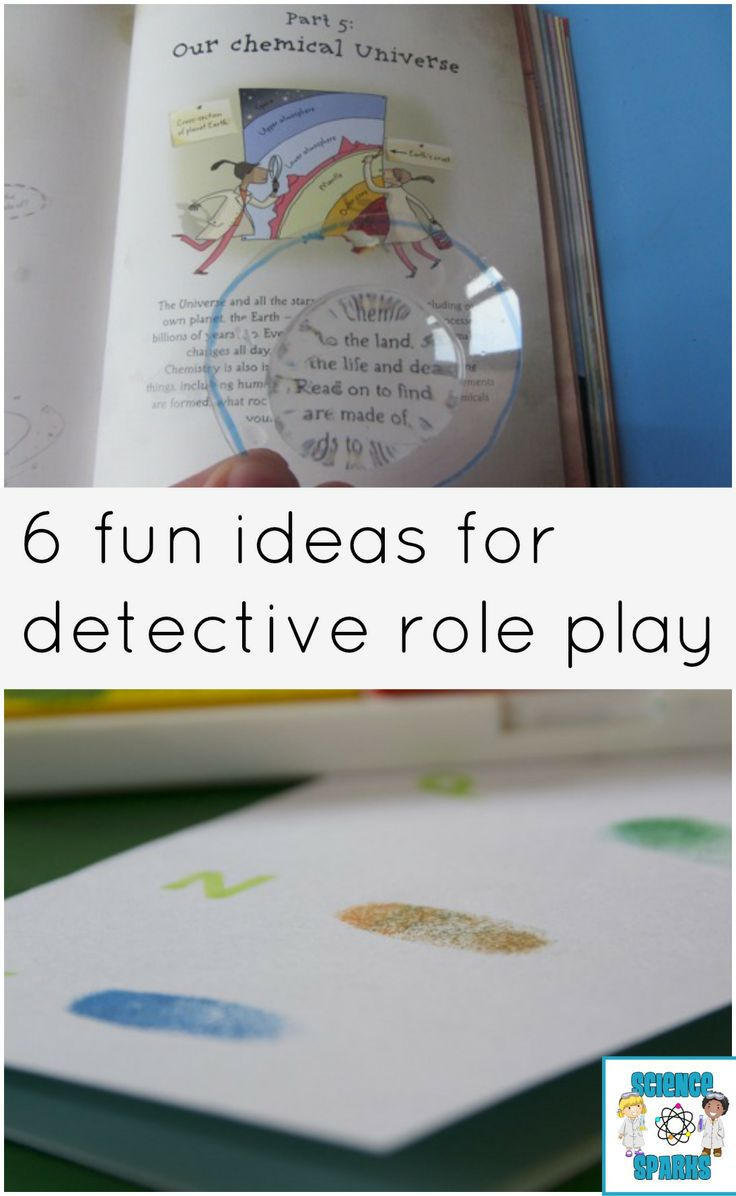 Fun detective role play ideas with a science twist! #RolePlay #Detective