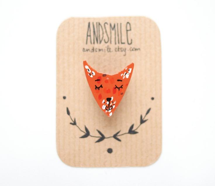 Fox Brooch, I love wearing this