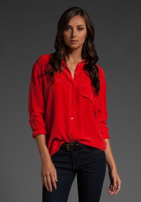 Блузка красная
