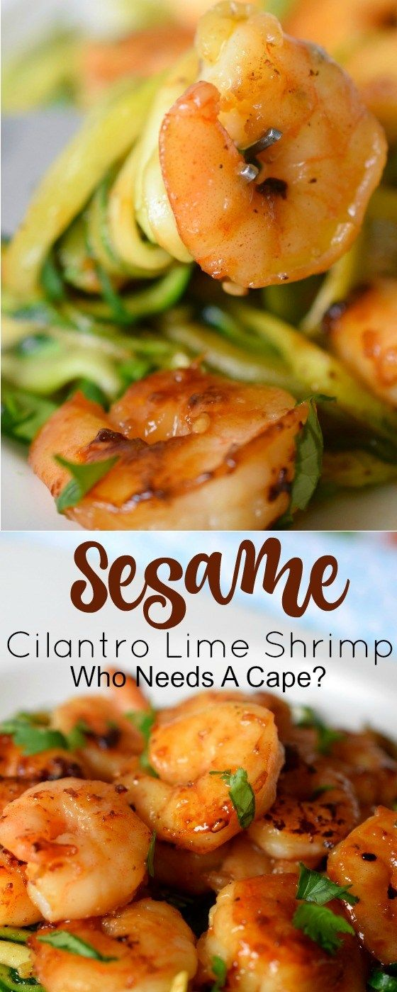 Love shrimp & need a quick meal idea? Sesame Cilantro Lime Shrimp is flavor loaded, easy to make and will get dinner on the table fast! Great seafood dish for Lent!