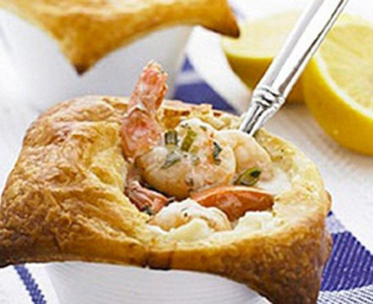 Creamy Prawn and Scallop Pots   PHILADELPHIA #recipes