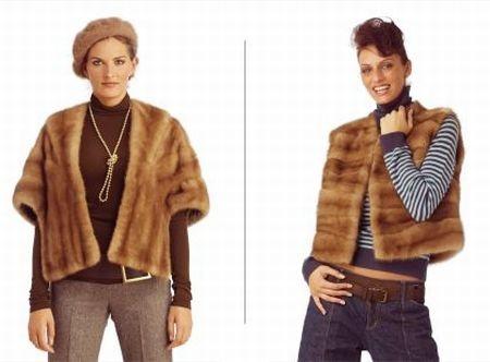 Mink stole redesigned into a fashionable mink vest