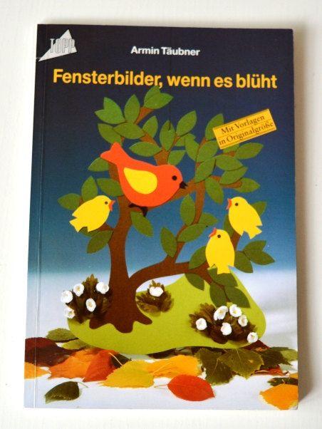 Vintage Anleitungsbuch Fensterbilder basteln Frech Verlag Vorlagen Originalgröße Bastelbuch Frühling Fensterschmuck Kinder Vergnügen von VintageLoppisStyle auf Etsy