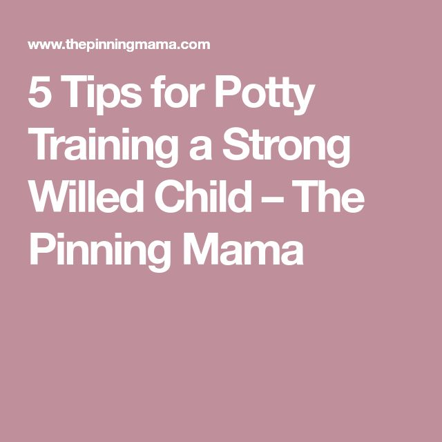 5 Tips for Potty Training a Strong Willed Child – The Pinning Mama