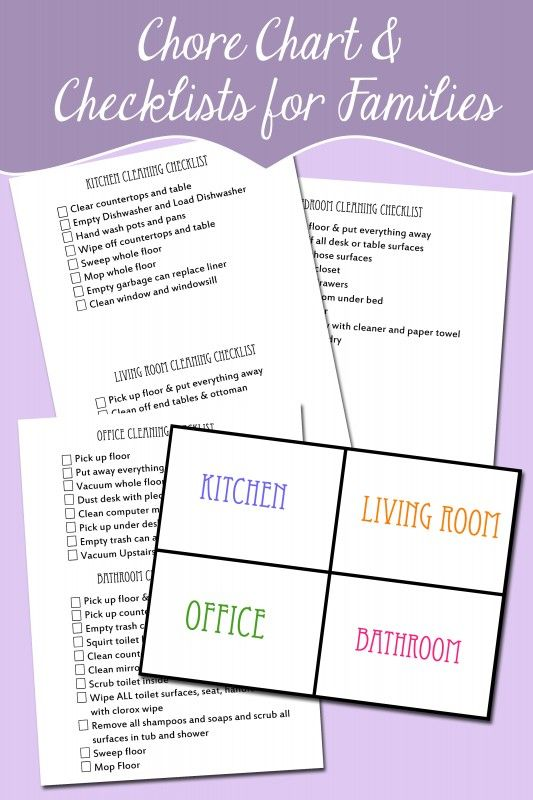 Family Chore Organizational chart and checklists free. like the printables.....