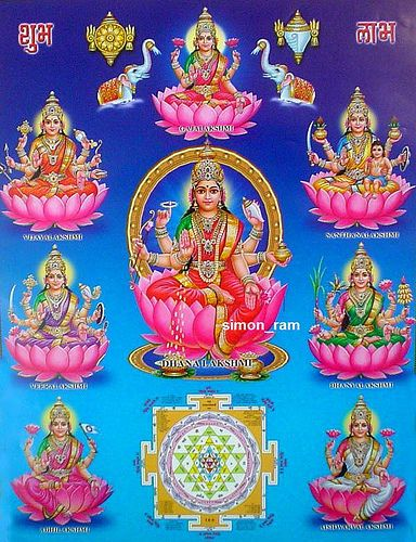Ashta Lakshmi Diwali Greetings, Image, Happy Diwali Maa Laxmi  Messages, Photos, Pictures Wishes Wallpapers Download