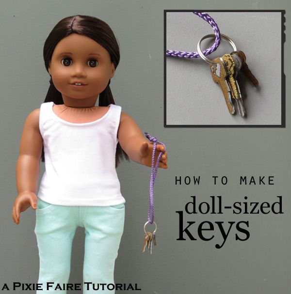 Doll-sized keys. Fun and simple :)