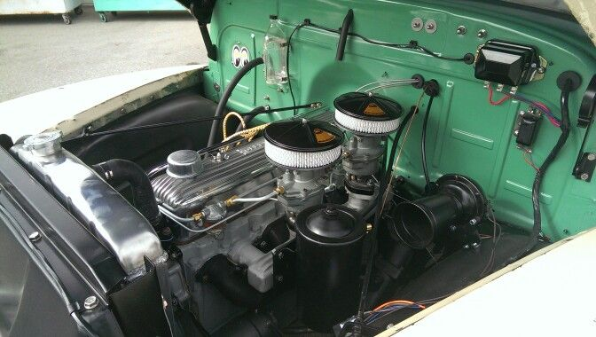 52 chevy 216 original engine with dual carbs | Chevy ...