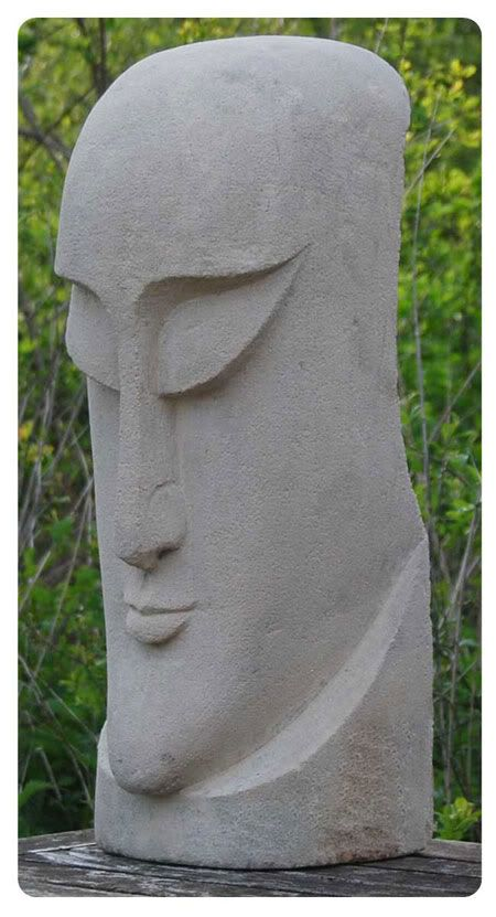 Modern Stone Sculpture | Please note, that due to the handmade nature of this item, there will ...