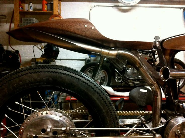 wooden motorcycle seat 2