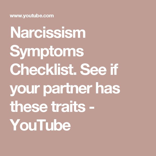 Narcissism Symptoms Checklist. See if your partner has these traits - YouTube