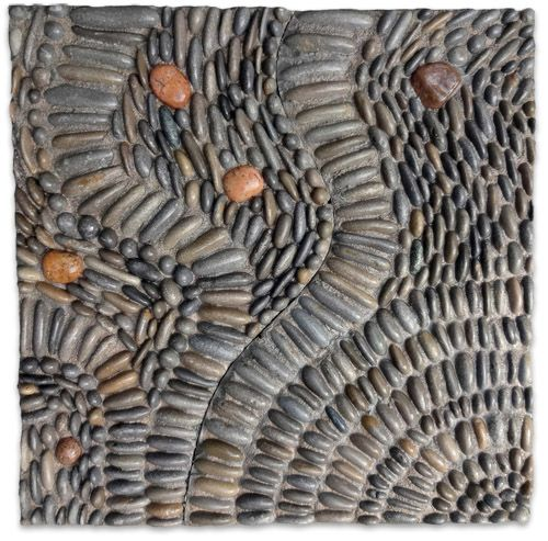 Pebble mosaics ready mades for installation in gardens or public spaces