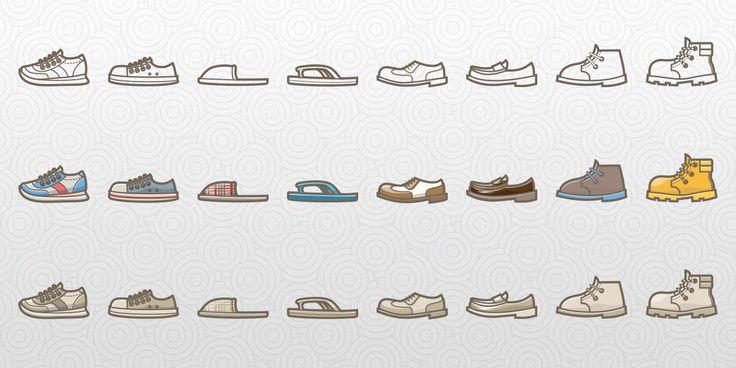 Free Shoes Lifestyle Icon Set | Icon set, Icon