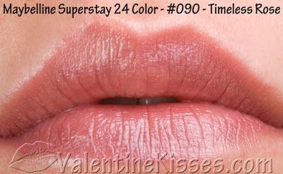 Valentine Kisses: Maybelline Superstay 24 Hour Lipcolor: swatches & review