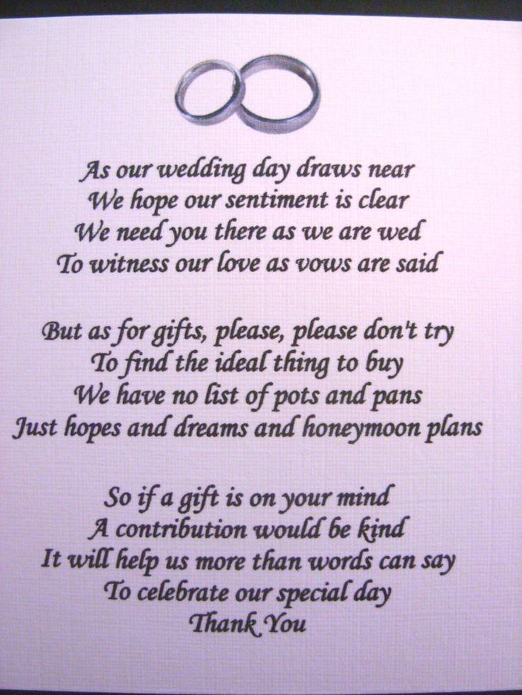 21 best monetary gift wording images on Pinterest | Wedding gift ...