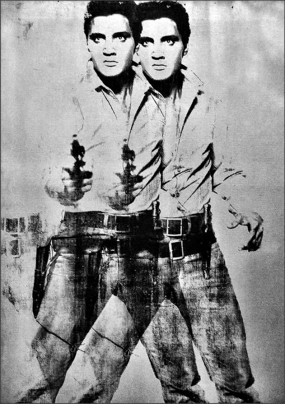 a cowboy elvis by Andy Warhol