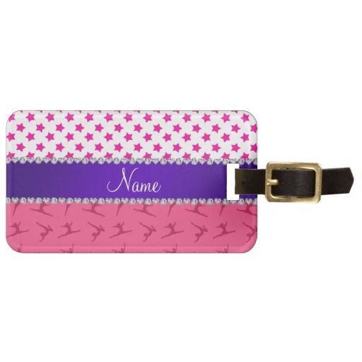 Gymnast Bag Tag // Gymnastics Party Favor Idea-- Perfect for older gymnasts, they can put it on their gym bag or for non-gymnasts, on their luggage