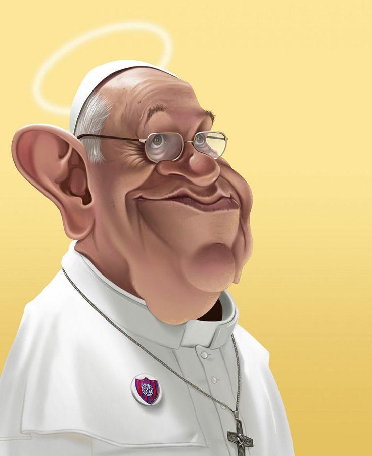 Caricatura Papa Francisco