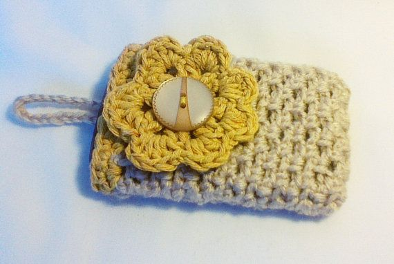 Hey, I found this really awesome Etsy listing at https://www.etsy.com/listing/182774010/beige-cream-crochet-cell-phone-casecell