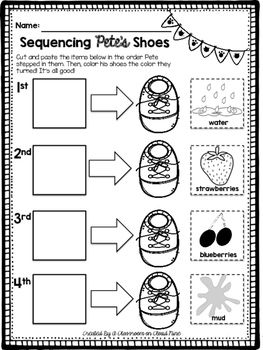 Pete The Cat I Love My White Shoes Writing Activities