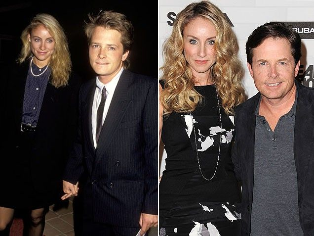 Tracy Pollan & Michael J. Fox  Cute couple as teenagers and a cute couple as adults.