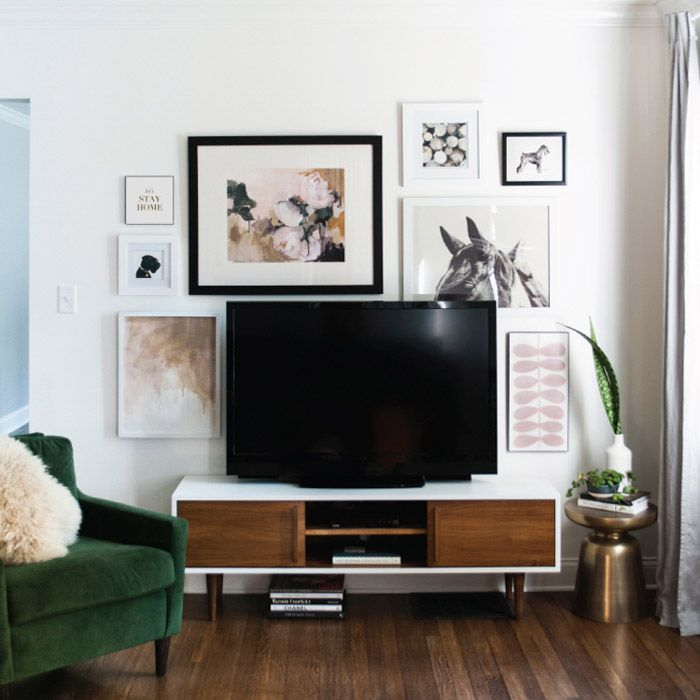 How to achieve this gorgeous art filled living room. Get the look with all the links available!