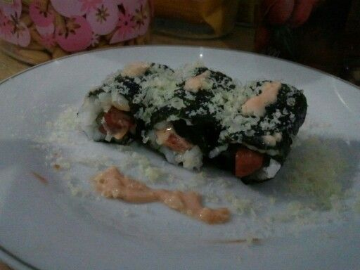 Simple Sushi  Rice Sosis Sweet Corn Mayoneise Nori (Japan)