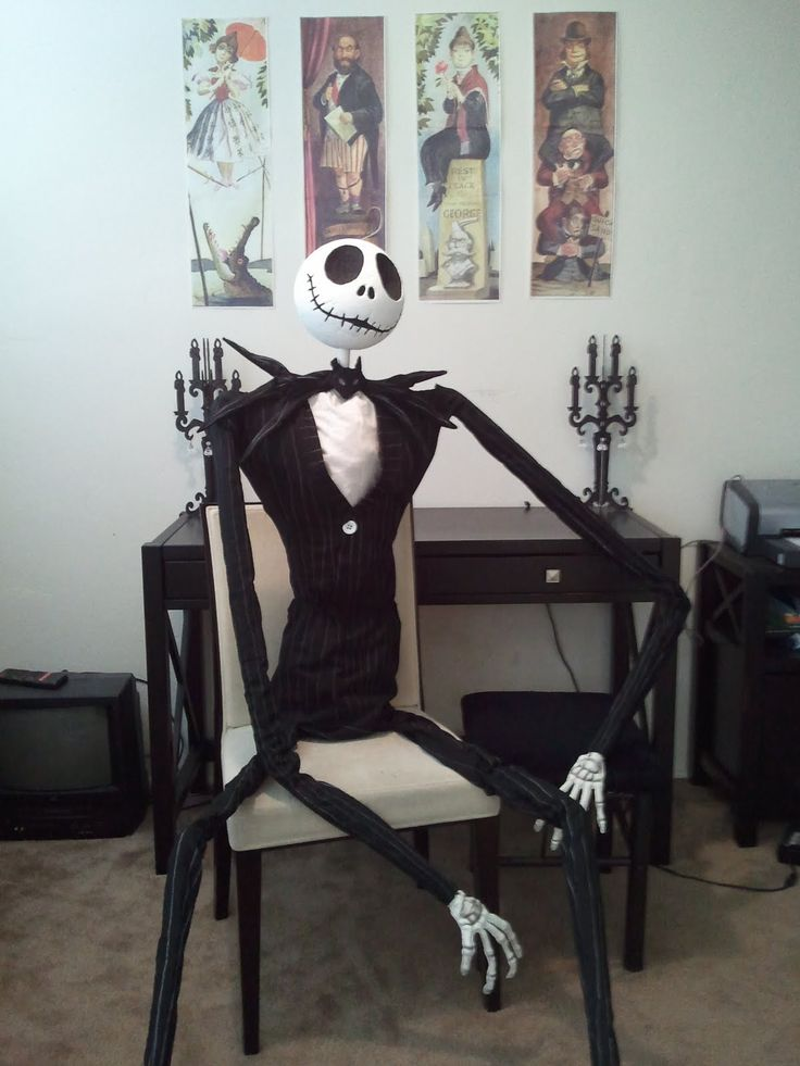 diy nightmare before christmas halloween props life size diy jack skellington prop diy. Black Bedroom Furniture Sets. Home Design Ideas