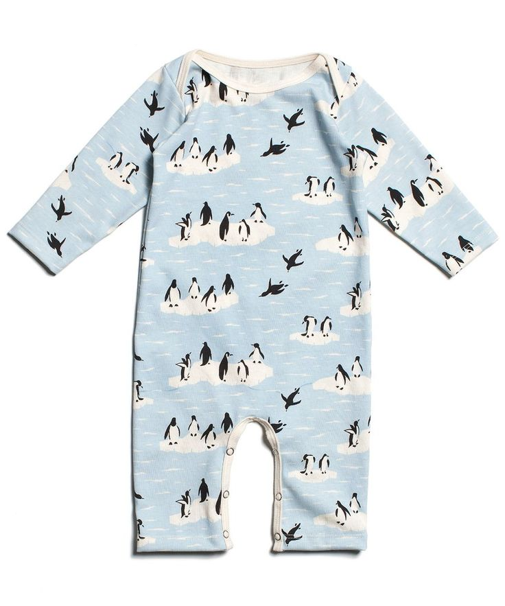 Penguini Unisex Long Sleeve Baby Gown Baby Bodysuit Unionsuit Footed Pajamas Romper Jumpsuit