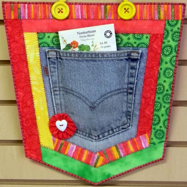 Recycled Denim Crafts | CRAFT PATTERN - Repurpose, Recycle, Upcycle Pockets - Denim, Jeans ...