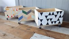 move your art nz do thee cool ply /painted toy boxes on castors, thought this might be cool for the boys!