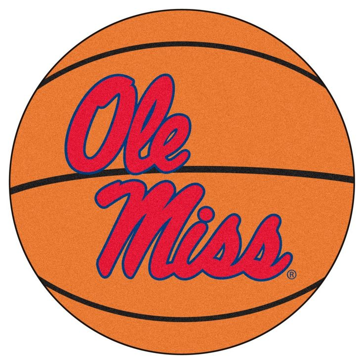 NCAA 27 in. Basketball Mat, Ole Miss Rebels