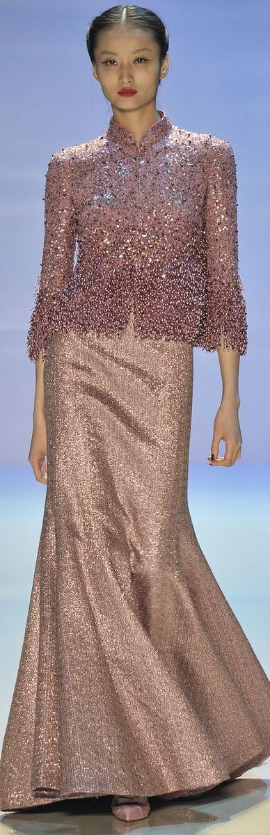 Perfect for the older actress with a good figure - Georges Hobeika Couture F/W 2014-2015