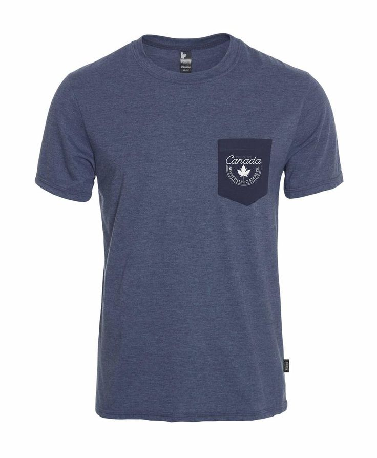 Heritage Unisex Pocket Tee - Heather Navy - Made in Canada